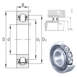 60 mm x 95 mm x 18 mm  INA BXRE012 needle roller bearings