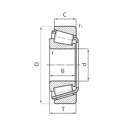 110 mm x 180 mm x 56 mm  CYSD 33122 tapered roller bearings