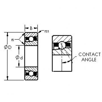 AST H71918AC angular contact ball bearings