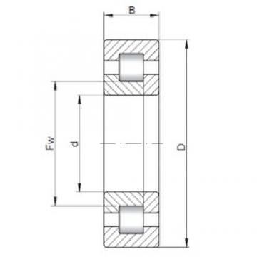 110 mm x 200 mm x 38 mm  ISO NUP222 cylindrical roller bearings