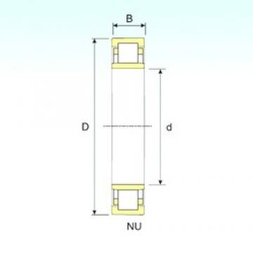 320 mm x 480 mm x 74 mm  ISB NU 1064 cylindrical roller bearings