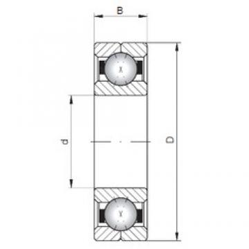 ISO Q222 angular contact ball bearings