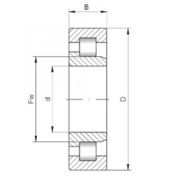 110 mm x 200 mm x 38 mm  ISO NJ222 cylindrical roller bearings