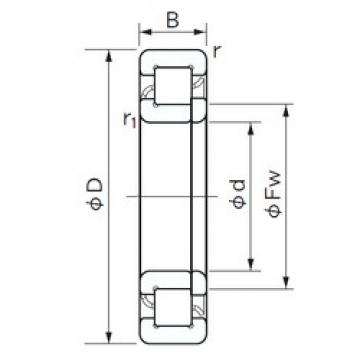 110 mm x 200 mm x 38 mm  NACHI NUP 222 cylindrical roller bearings