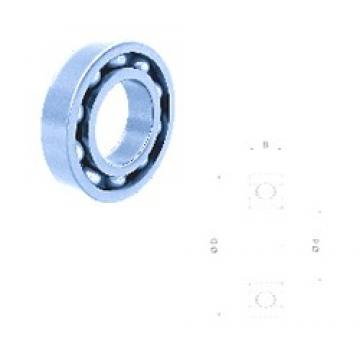 60 mm x 95 mm x 18 mm  Fersa 6012 deep groove ball bearings